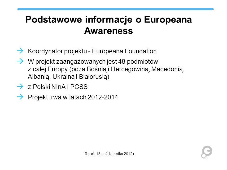 Podstawowe informacje o Europeana Awareness