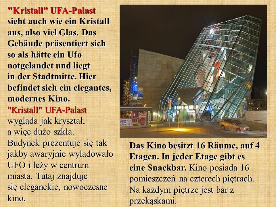 Kristall UFA-Palast sieht auch wie ein Kristall aus, also viel Glas