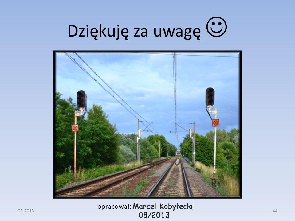 Dziękuję za uwagę  opracował: Marcel Kobyłecki 08/2013 08-2013