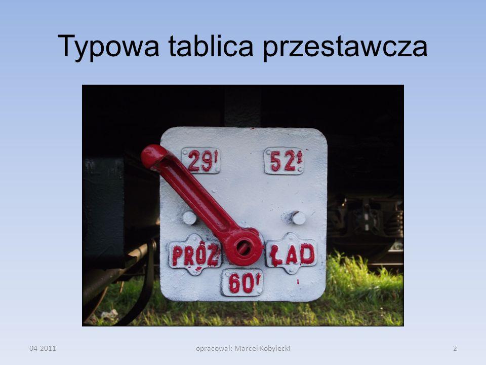 Typowa tablica przestawcza
