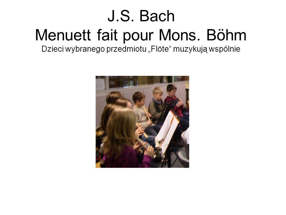 J. S. Bach Menuett fait pour Mons