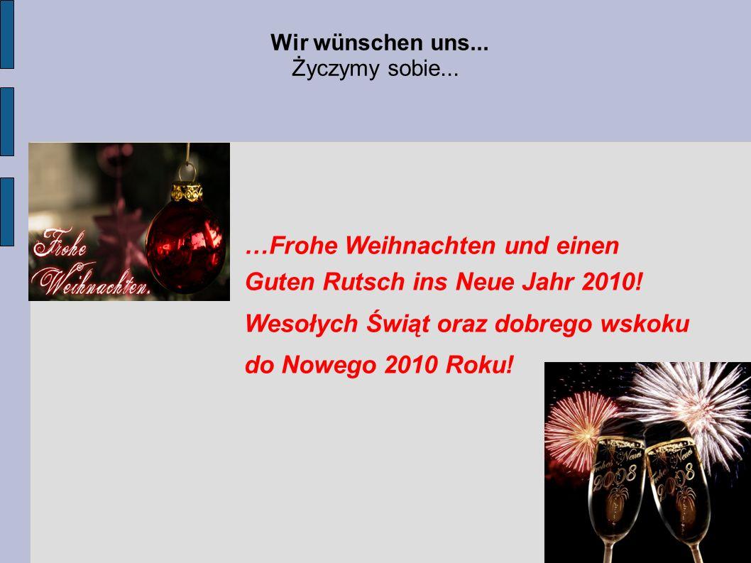 …Frohe Weihnachten und einen Guten Rutsch ins Neue Jahr 2010!