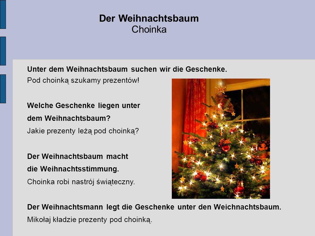 Der Weihnachtsbaum Choinka