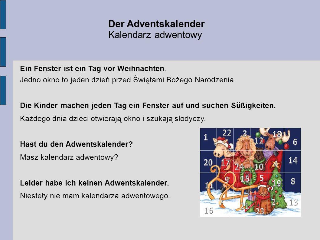 Der Adventskalender Kalendarz adwentowy