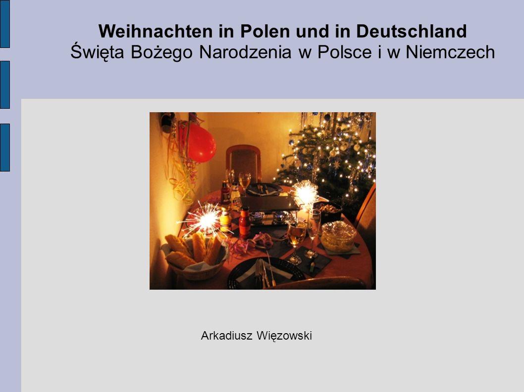 Weihnachten in Polen und in Deutschland