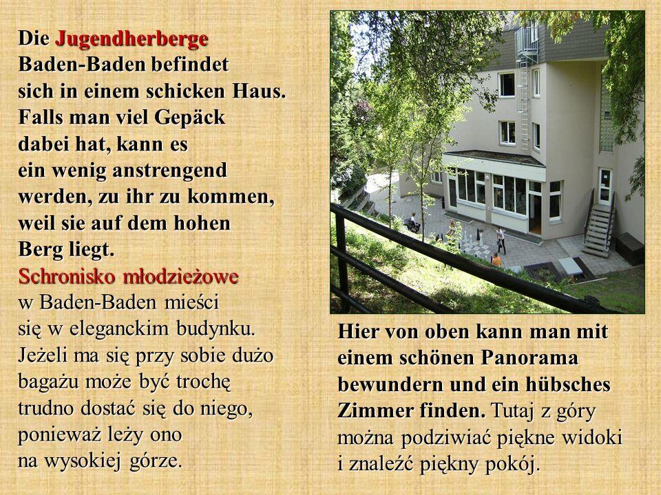 Die Jugendherberge Baden-Baden befindet sich in einem schicken Haus