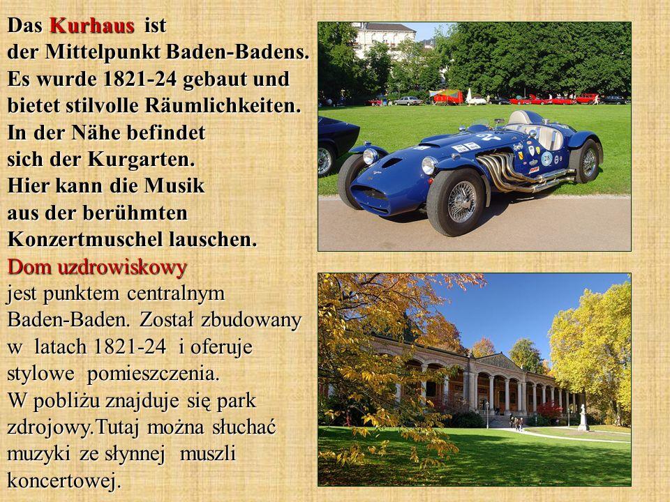 Das Kurhaus ist der Mittelpunkt Baden-Badens