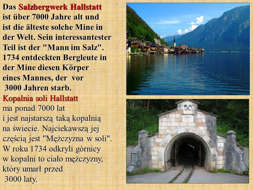 Das Salzbergwerk Hallstatt ist über 7000 Jahre alt und ist die älteste solche Mine in der Welt.