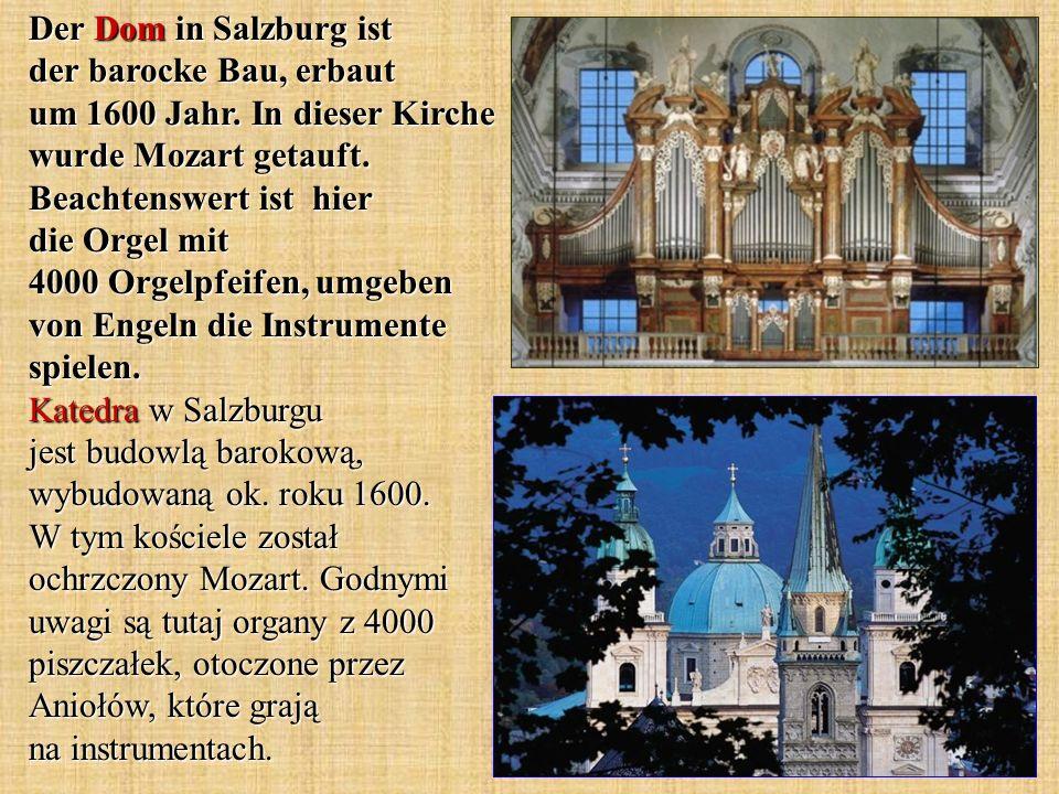 Der Dom in Salzburg ist der barocke Bau, erbaut um 1600 Jahr