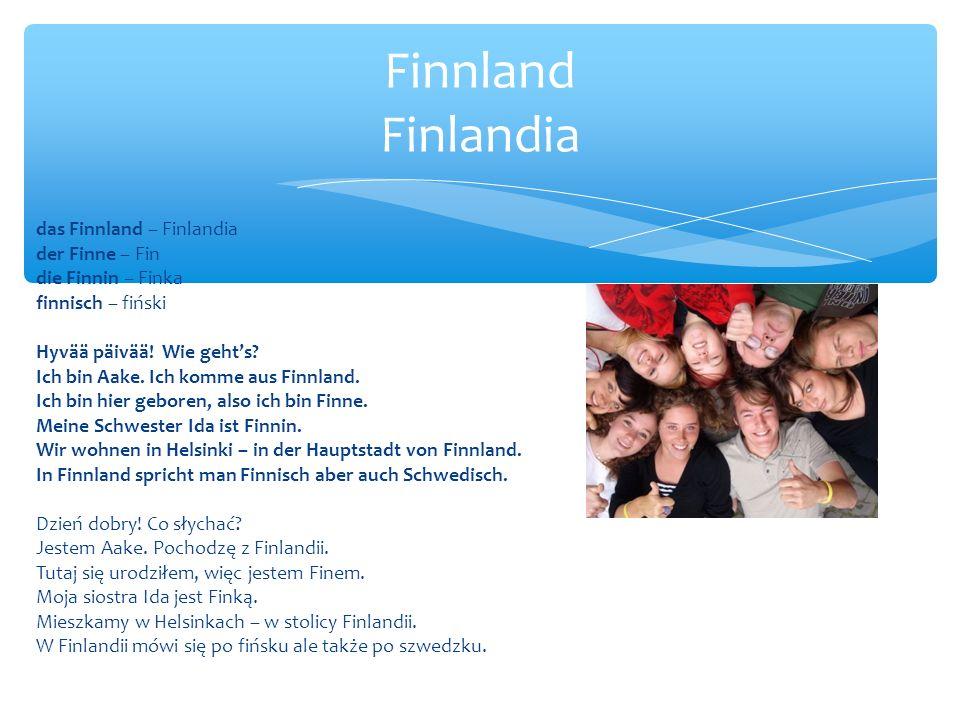 Finnland Finlandia das Finnland – Finlandia der Finne – Fin