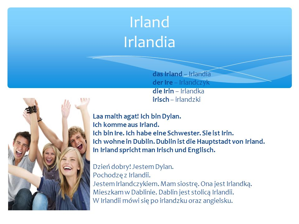 Irland Irlandia das Irland – Irlandia der Ire – Irlandczyk