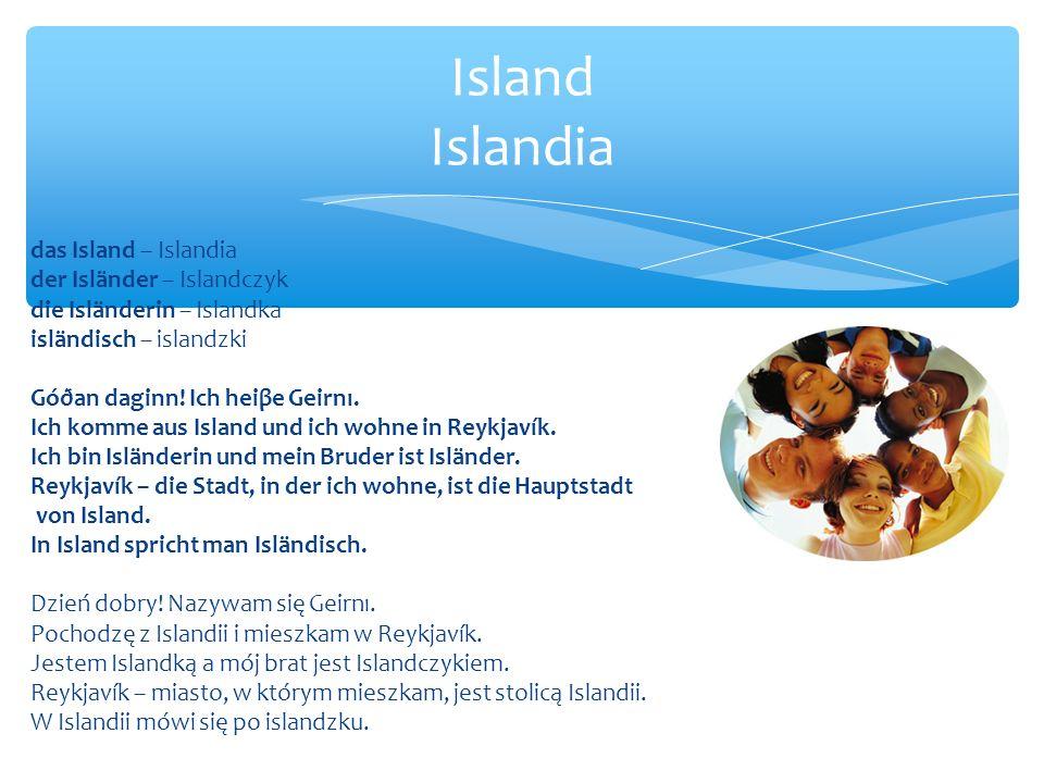 Island Islandia das Island – Islandia der Isländer – Islandczyk