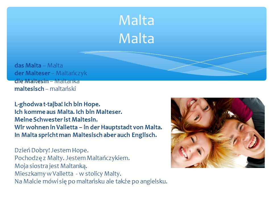 Malta Malta das Malta – Malta der Malteser – Maltańczyk