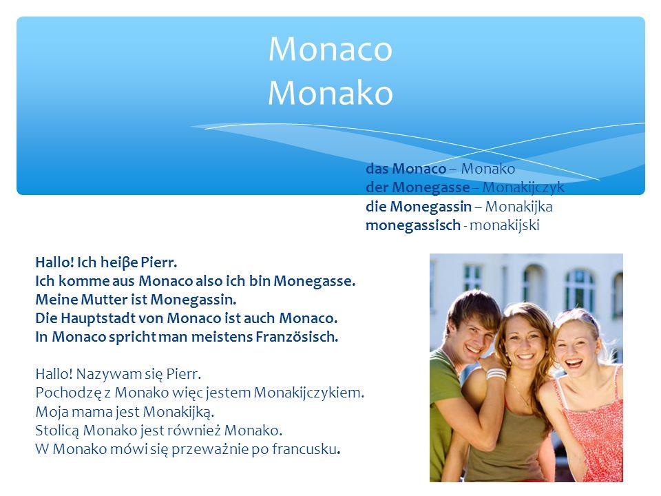 Monaco Monako das Monaco – Monako der Monegasse – Monakijczyk