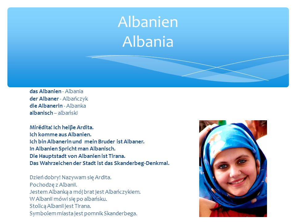 Albanien Albania das Albanien - Albania der Albaner - Albańczyk