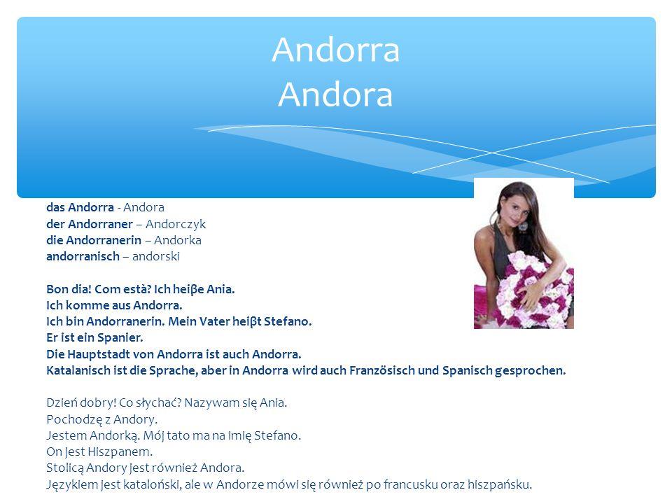 Andorra Andora das Andorra - Andora der Andorraner – Andorczyk