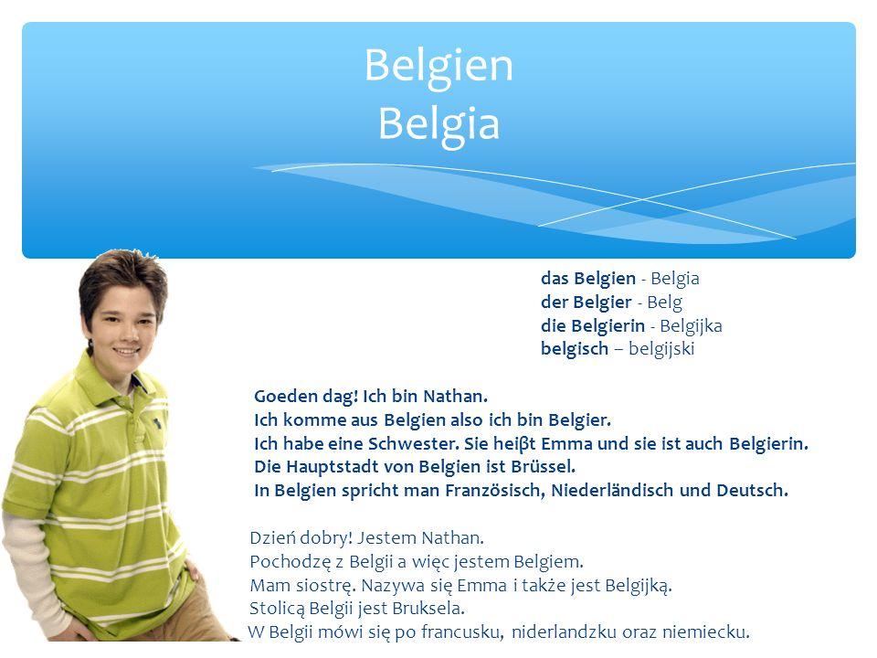Belgien Belgia das Belgien - Belgia der Belgier - Belg