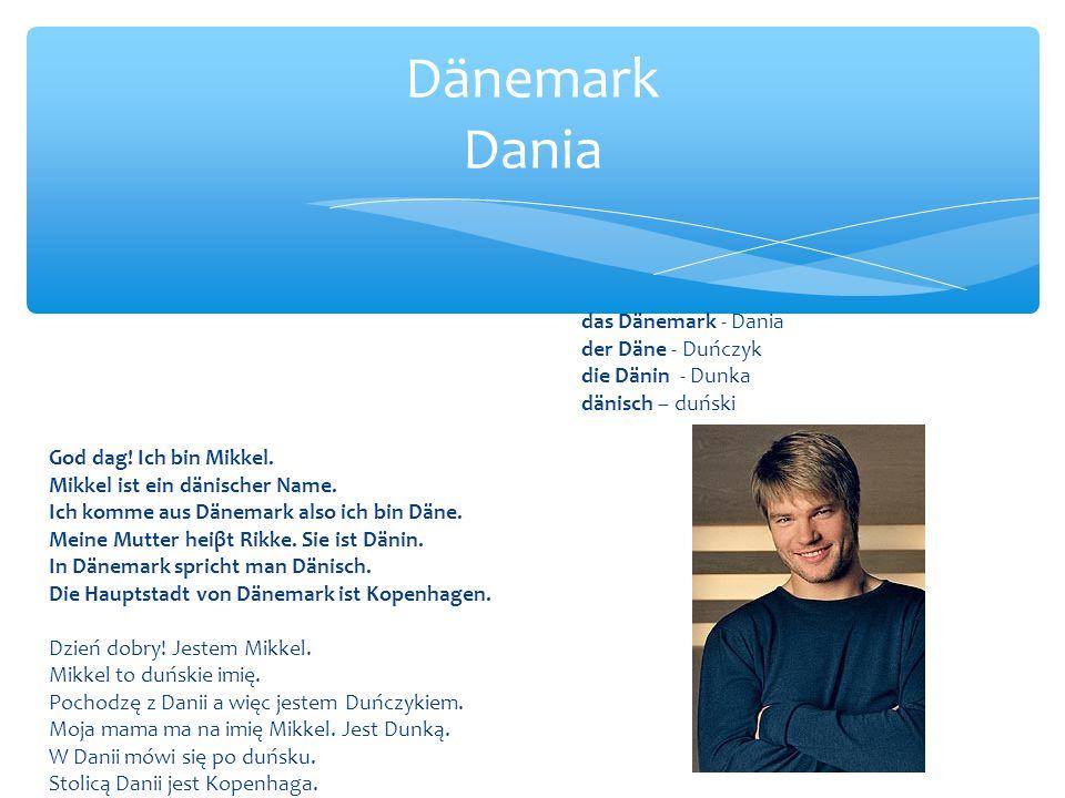 Dänemark Dania das Dänemark - Dania der Däne - Duńczyk