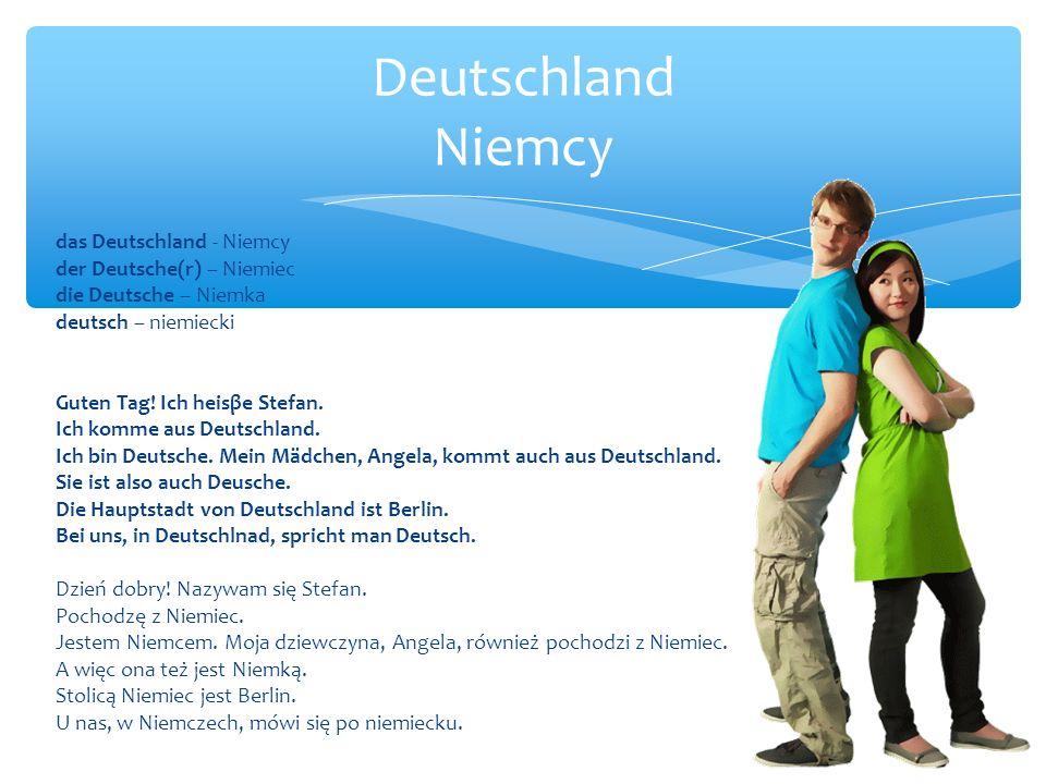 Deutschland Niemcy das Deutschland - Niemcy der Deutsche(r) – Niemiec
