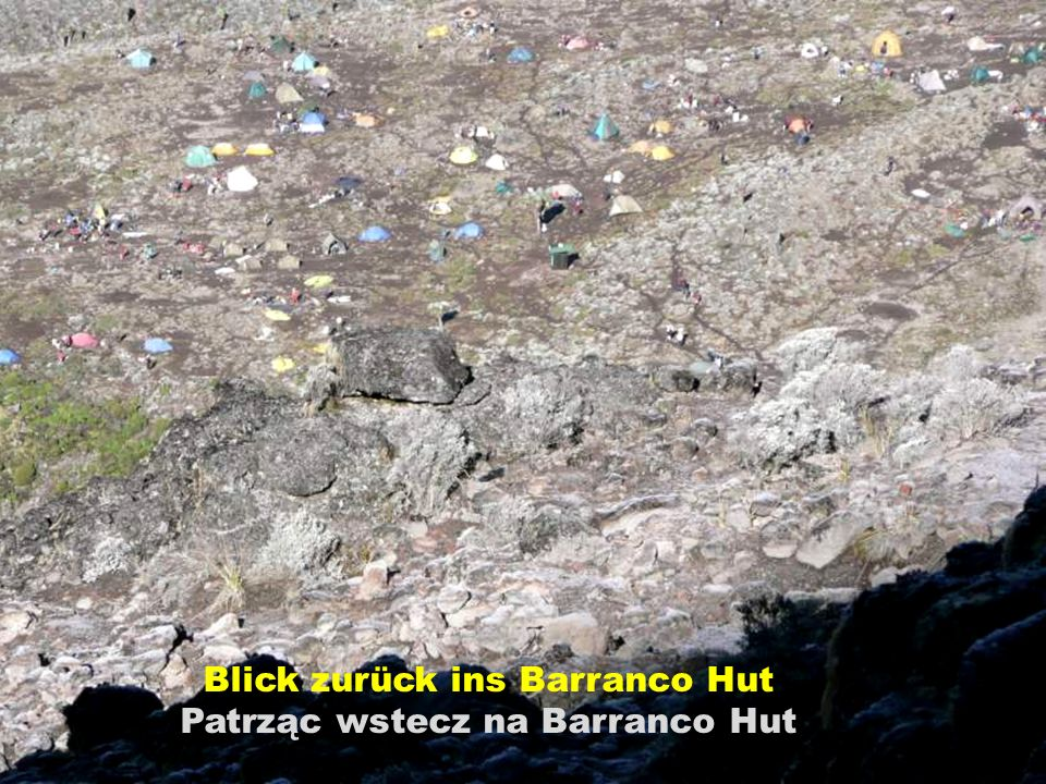 Blick zurück ins Barranco Hut Patrząc wstecz na Barranco Hut
