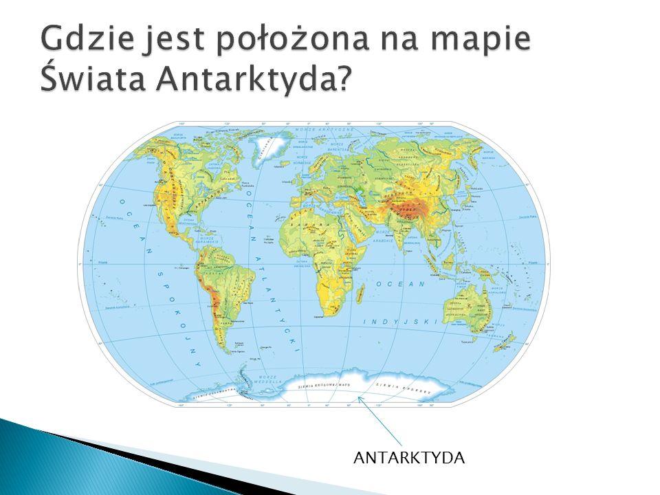 Gdzie jest położona na mapie Świata Antarktyda
