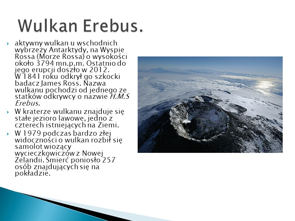Wulkan Erebus.