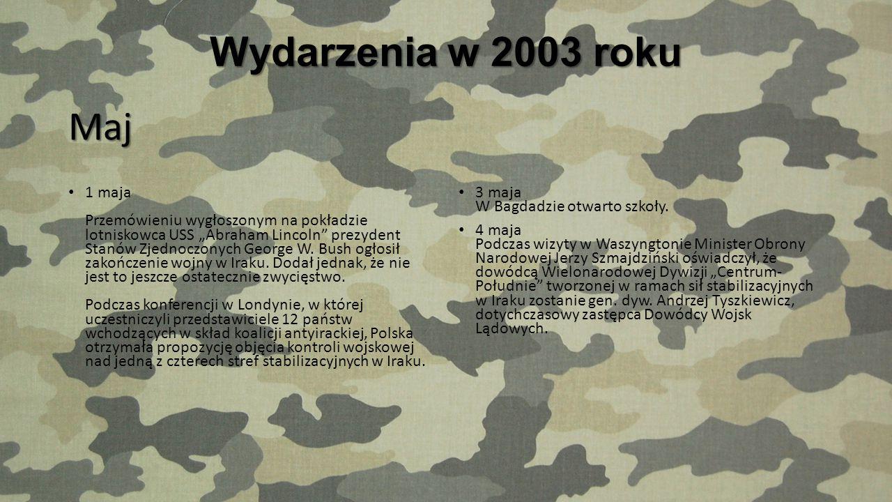 Wydarzenia w 2003 roku Maj.
