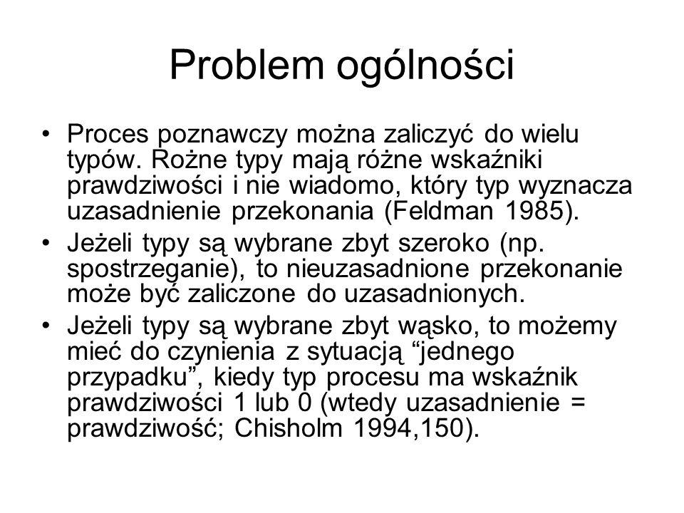 Problem ogólności