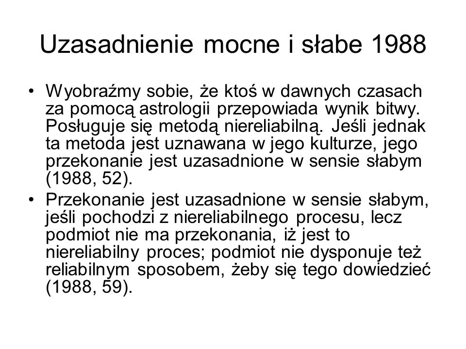 Uzasadnienie mocne i słabe 1988