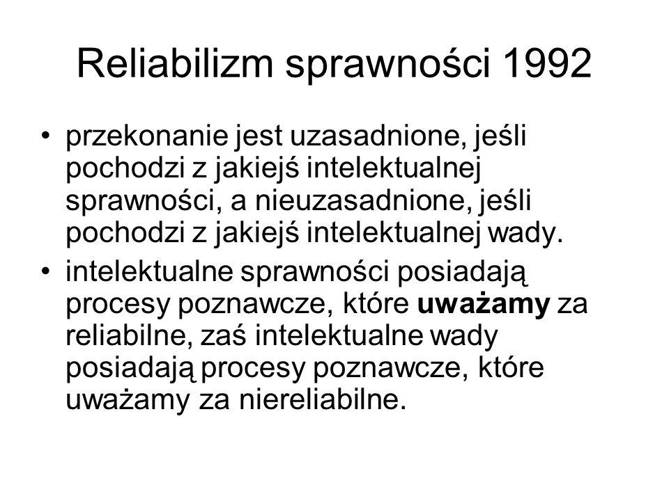 Reliabilizm sprawności 1992