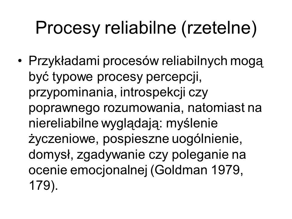 Procesy reliabilne (rzetelne)
