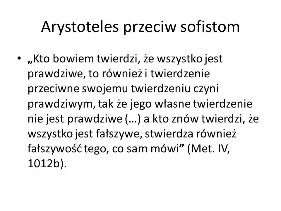 Arystoteles przeciw sofistom