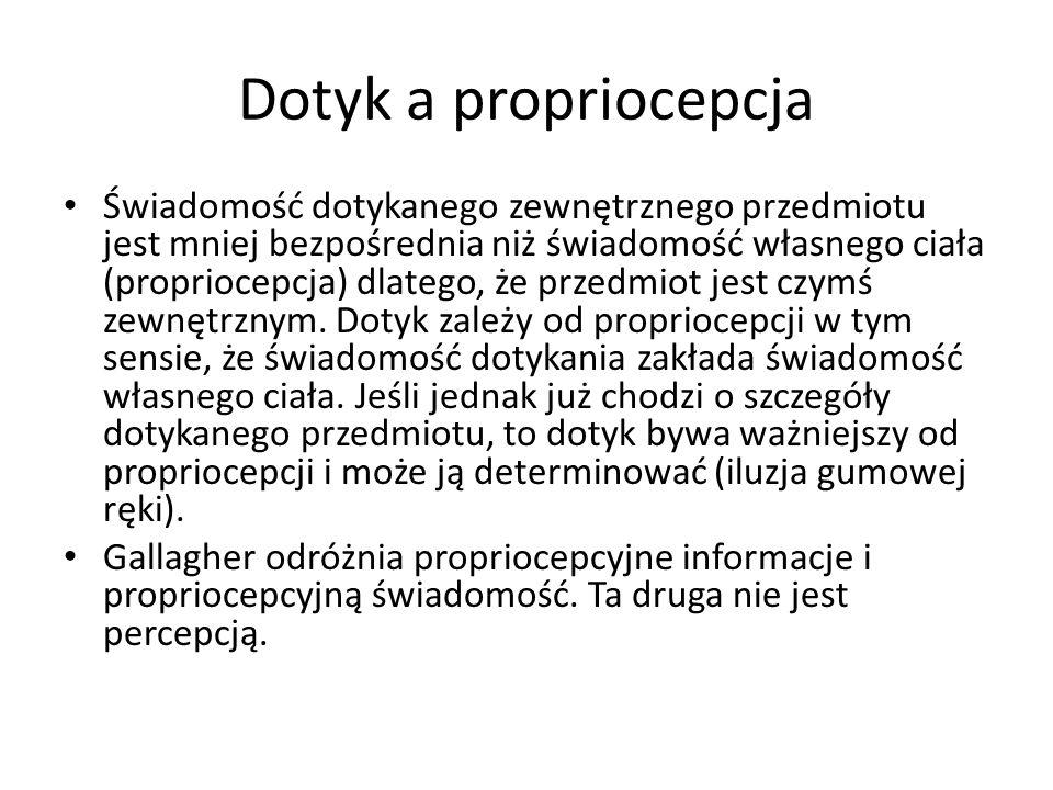 Dotyk a propriocepcja