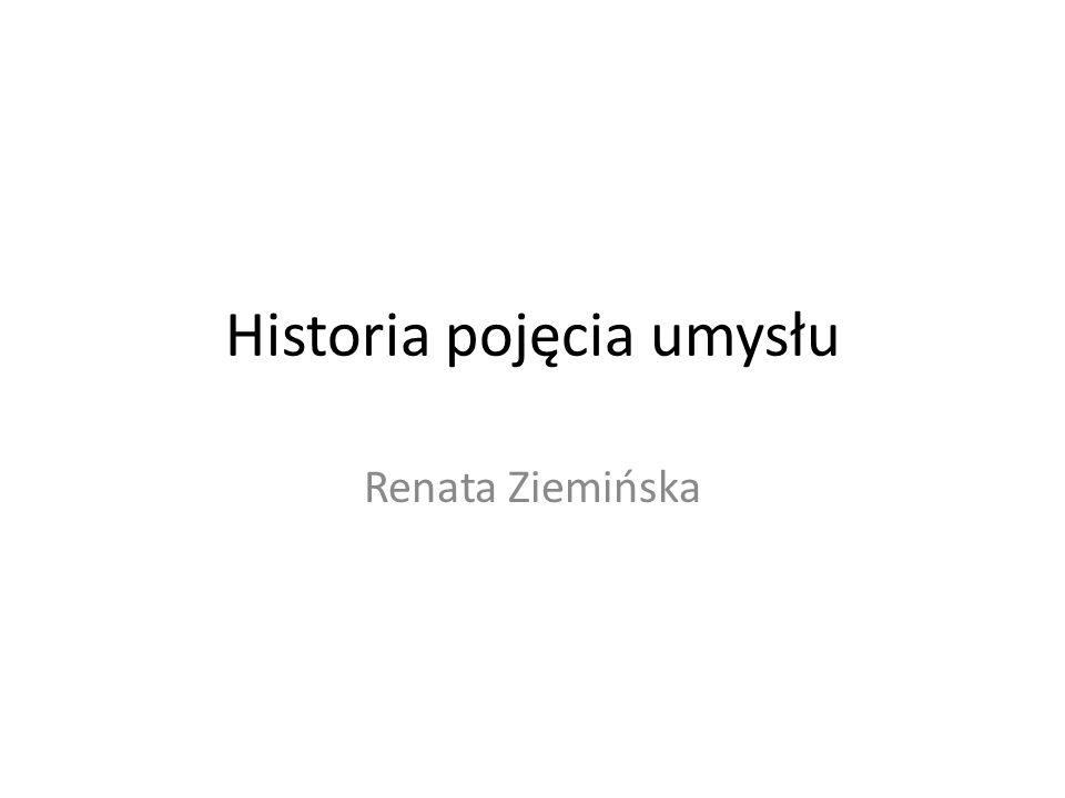 Historia pojęcia umysłu