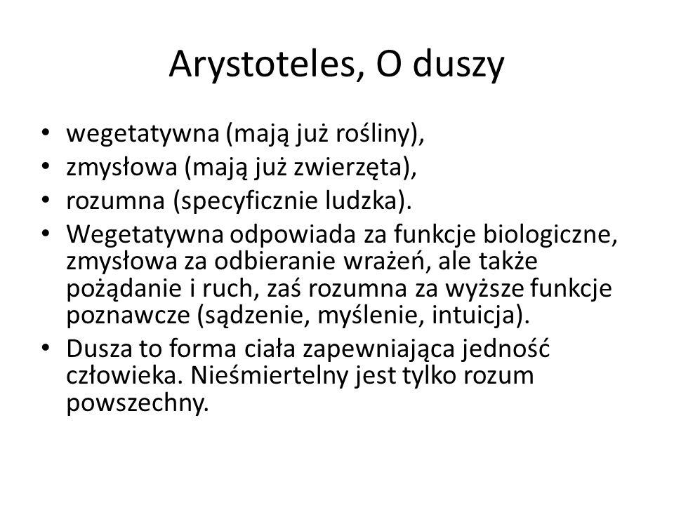 Arystoteles, O duszy wegetatywna (mają już rośliny),