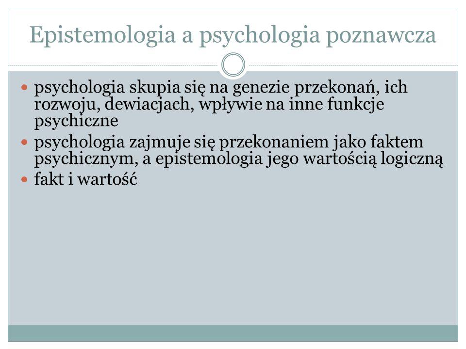 Epistemologia a psychologia poznawcza