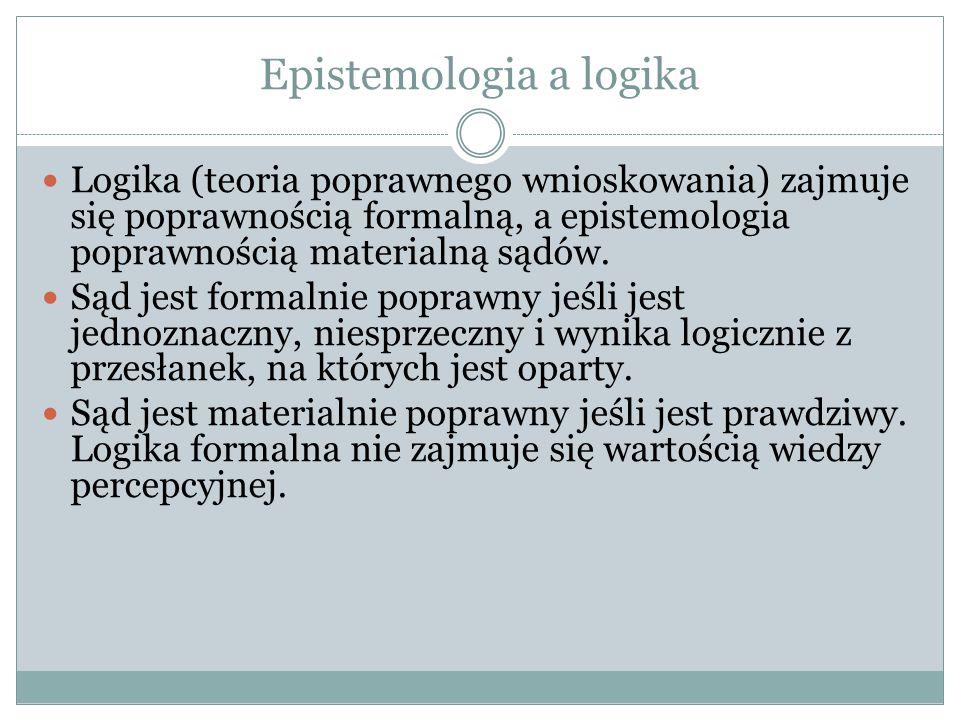 Epistemologia a logika