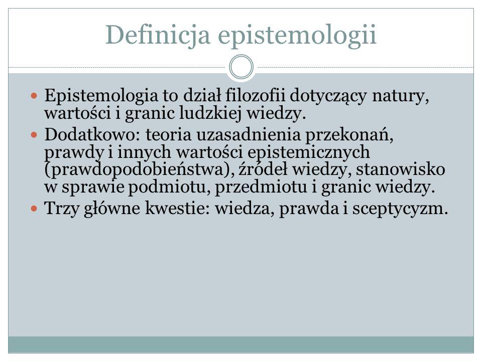 Definicja epistemologii