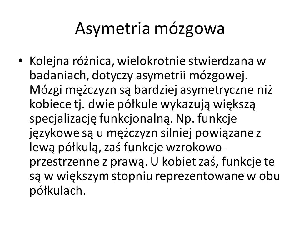 Asymetria mózgowa