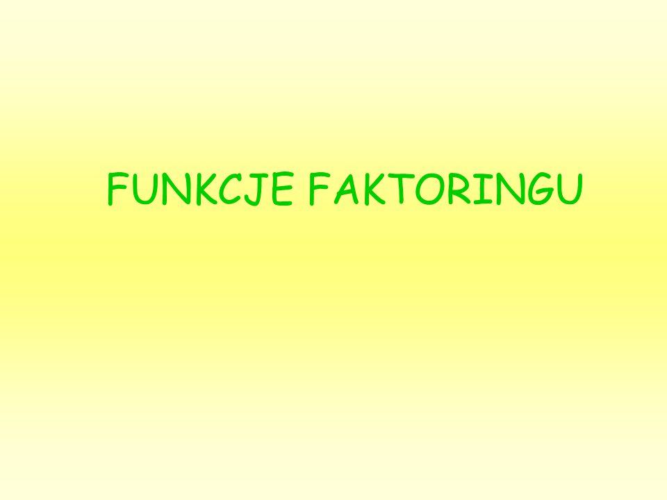 FUNKCJE FAKTORINGU