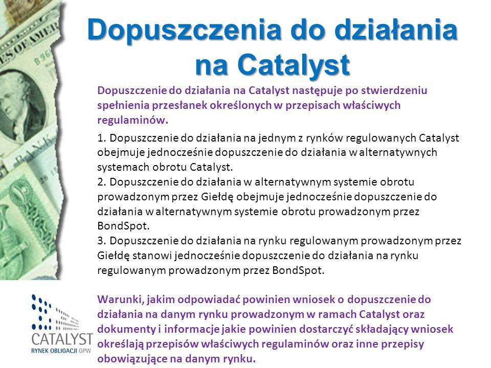 Dopuszczenia do działania na Catalyst