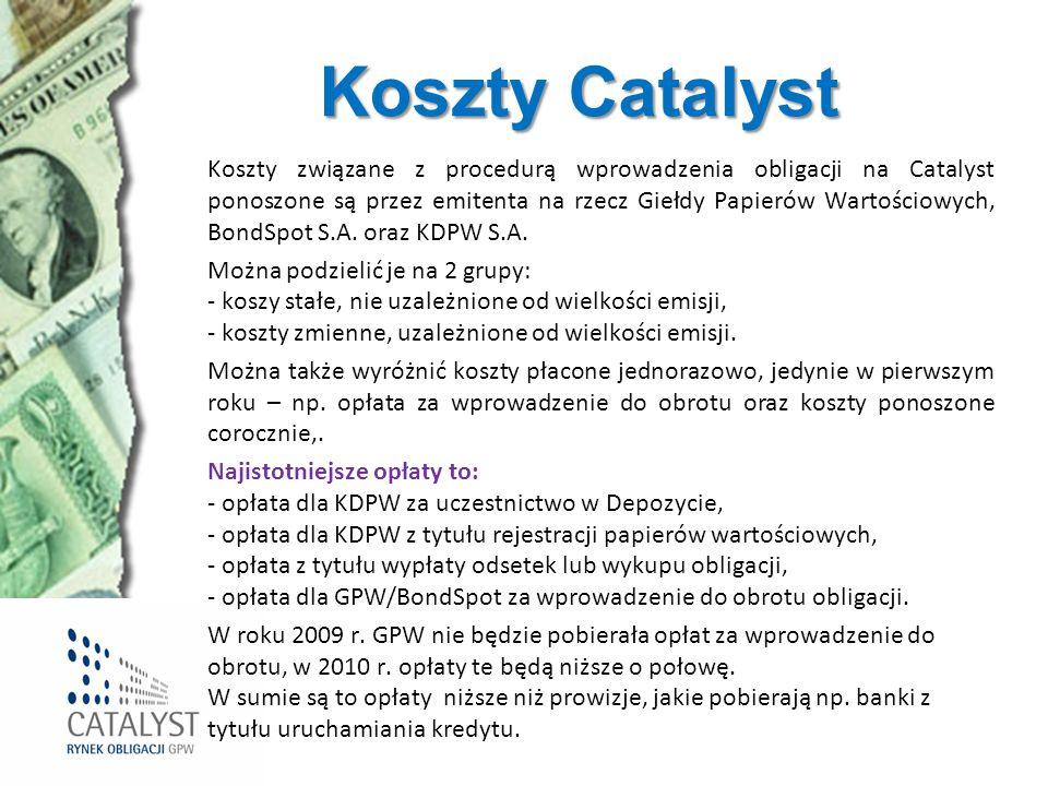 Koszty Catalyst