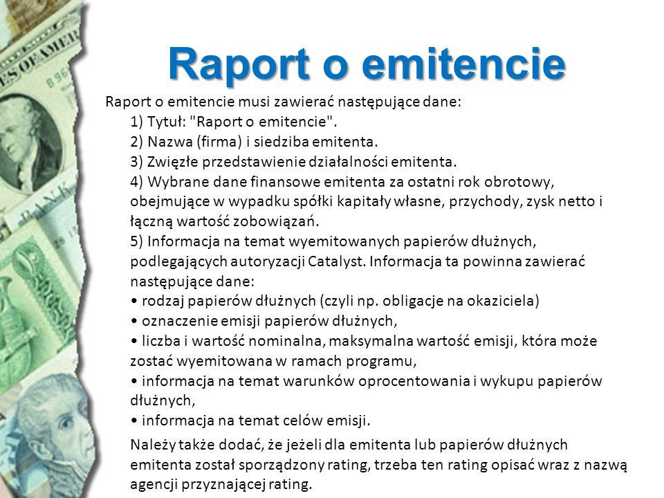 Raport o emitencie