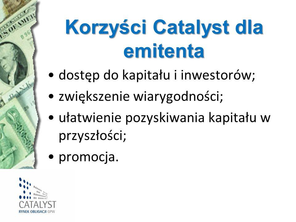 Korzyści Catalyst dla emitenta