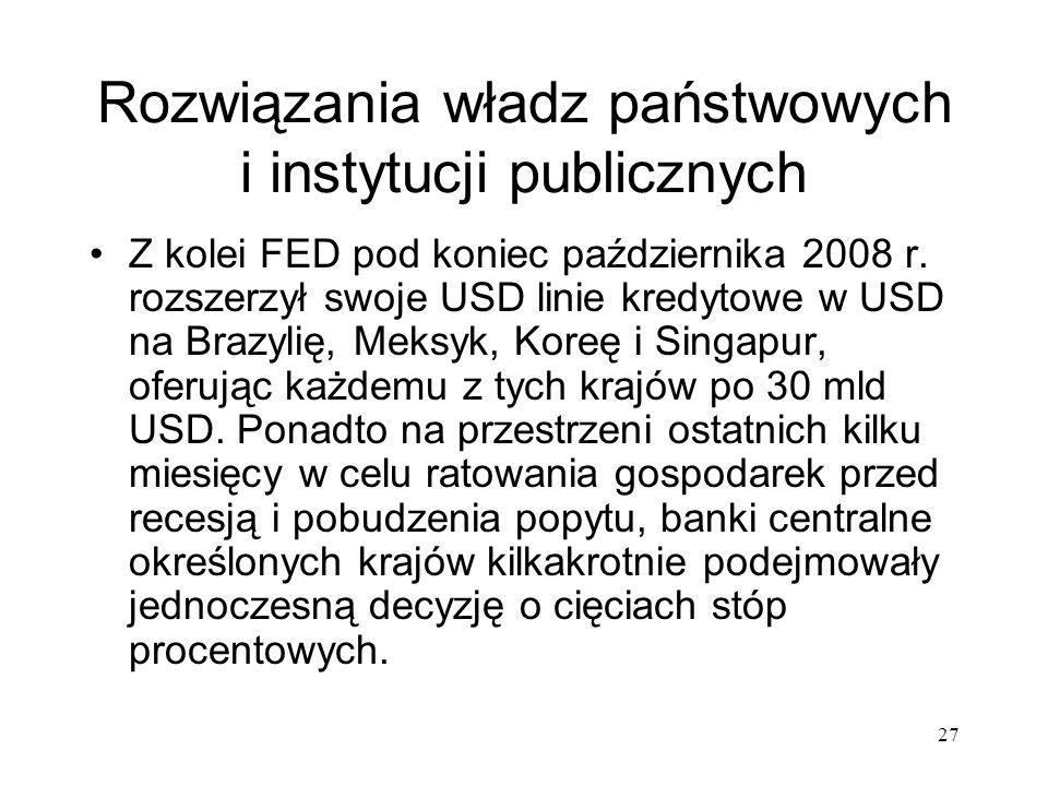Rozwiązania władz państwowych i instytucji publicznych