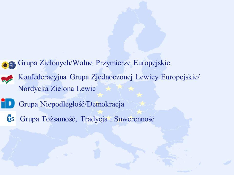 Grupa Zielonych/Wolne Przymierze Europejskie Konfederacyjna Grupa Zjednoczonej Lewicy Europejskie/ Nordycka Zielona Lewic Grupa Niepodległość/Demokracja Grupa Tożsamość, Tradycja i Suwerenność