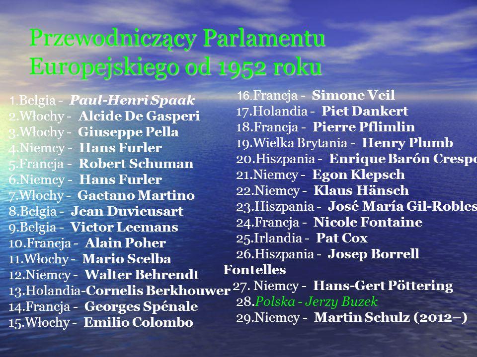 Przewodniczący Parlamentu Europejskiego od 1952 roku