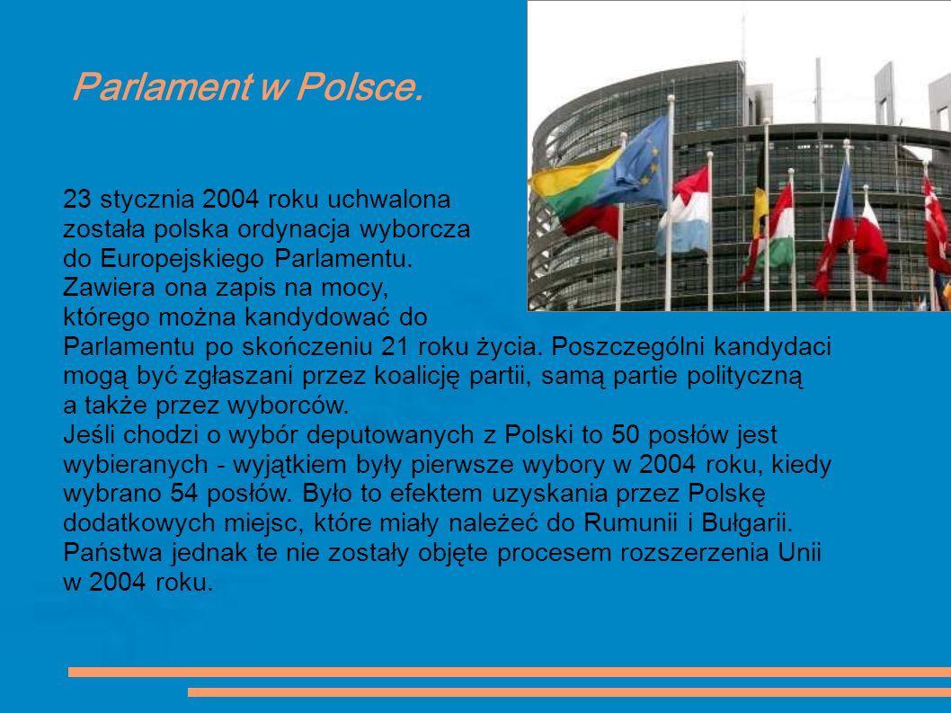 Parlament w Polsce. 23 stycznia 2004 roku uchwalona