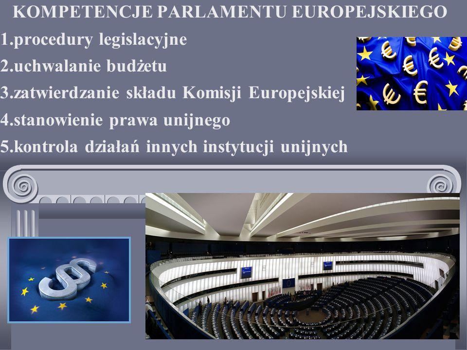 KOMPETENCJE PARLAMENTU EUROPEJSKIEGO