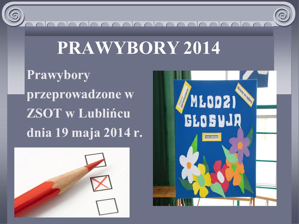 PRAWYBORY 2014 Prawybory przeprowadzone w ZSOT w Lublińcu